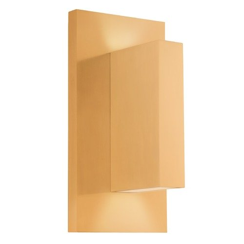 Kuzco Lighting Kuzco Lighting Modern Gold LED Outdoor Wall Light 3000K 500LM EW22109-GD