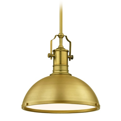Design Classics Lighting Farmhouse Brass Pendant Light 13.38-Inch Wide 1765-12 SH1776-12 R1776-12