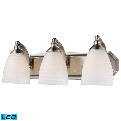 Elk Lighting Elk Lighting Bath and Spa Satin Nickel LED Bathroom Light 570-3N-WS-LED