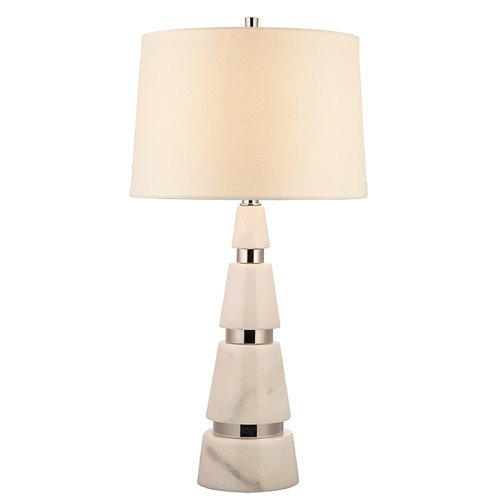 Hudson Valley Lighting Modena 1 Light Table Lamp Drum Shade - Polished Nickel L789-PN