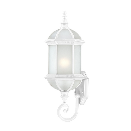 Nuvo Lighting Outdoor Wall Light with White Glass in White Finish 60/4991
