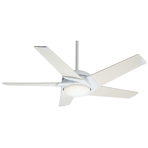 Casablanca Fan Co Casablanca Fan Stealth Dc Snow White Ceiling Fan with Light 59105