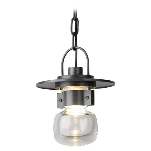 Hubbardton Forge Lighting Hubbardton Forge Lighting Mason Burnished Steel Outdoor Hanging Light 363001-08-ZM435
