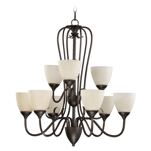 Quorum Lighting Quorum Lighting Powell Toasted Sienna Chandelier 6008-9-44