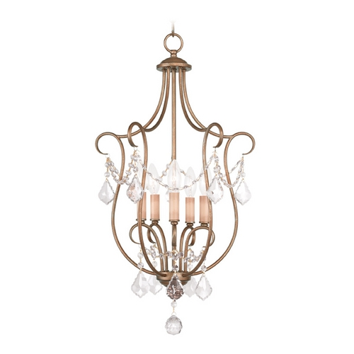 Livex Lighting Livex Lighting Chesterfield Antique Gold Leaf Pendant Light 6436-48