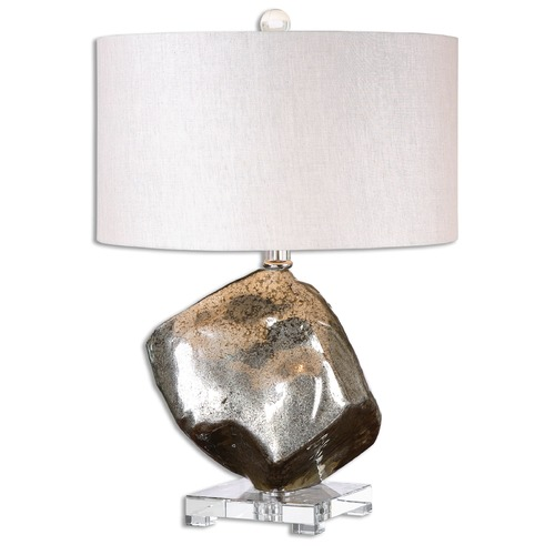 Uttermost Lighting Uttermost Everly Silver Glass Table Lamp 26605-1
