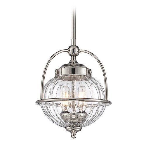 Savoy House Savoy House Lighting Banbury Polished Nickel Pendant Light with Globe Shade 7-460-2-109