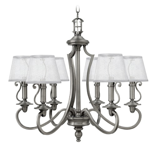 Hinkley Lighting Hinkley Lighting Plymouth Polished Antique Nickel Chandelier 4246PL