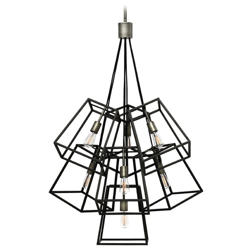 Hinkley Lighting Hinkley Lighting Fulton Aged Zinc Pendant Light 3357DZ
