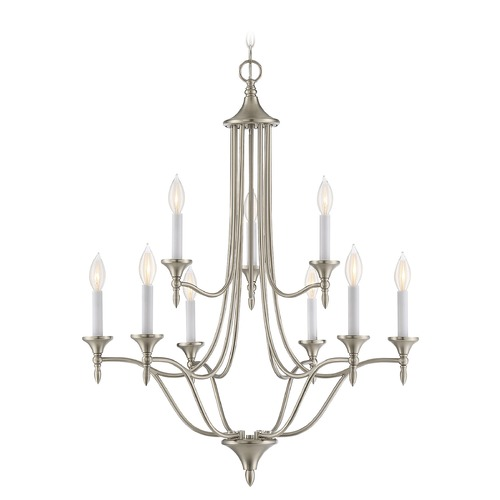 Savoy House Savoy House Lighting Herndon Satin Nickel Chandelier 1-1009-9-SN