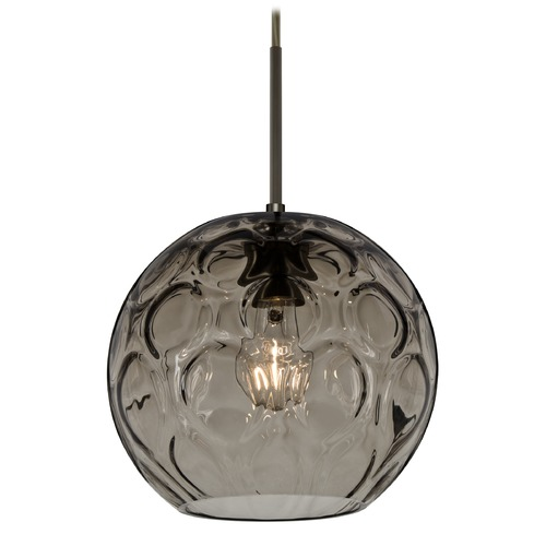 Besa Lighting Besa Lighting Bombay Bronze Mini-Pendant Light with Globe Shade 1JT-BOMYSM-BR