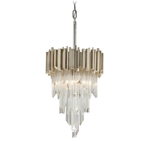 Corbett Lighting Corbett Lighting Mystique Modern Silver Leaf Pendant Light 226-43