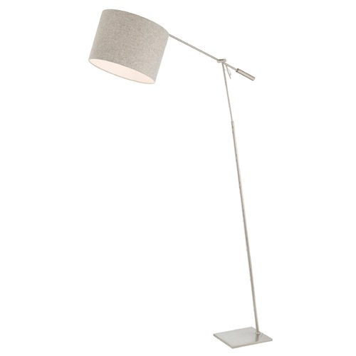 Lite Source Lighting Lite Source Lucilla Brushed Nickel Swing Arm Lamp with Drum Shade LS-83050