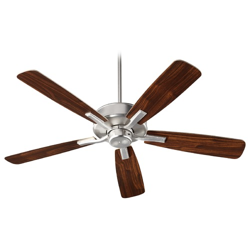 Quorum Lighting Quorum Lighting Villa Satin Nickel Ceiling Fan Without Light 42525-65