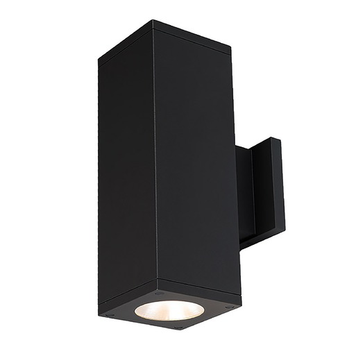 WAC Lighting Wac Lighting Cube Arch Black LED Outdoor Wall Light DC-WD05-F827A-BK