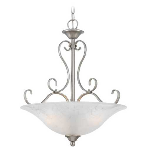 Quoizel Lighting Pendant Light with Grey Glass in Antique Nickel Finish DH2820AN