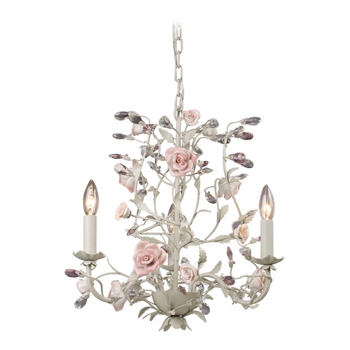 Elk Lighting Mini-Chandelier in Cream Finish 8091/3