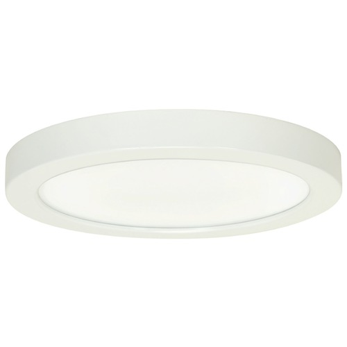 Design Classics Lighting 9-Inch Round White Low Profile LED Flushmount Ceiling Light - 2700K 8336-27-WH