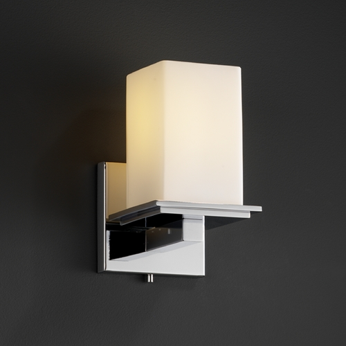 Justice Design Group Justice Design Group Fusion Collection Sconce FSN-8671-15-OPAL-CROM