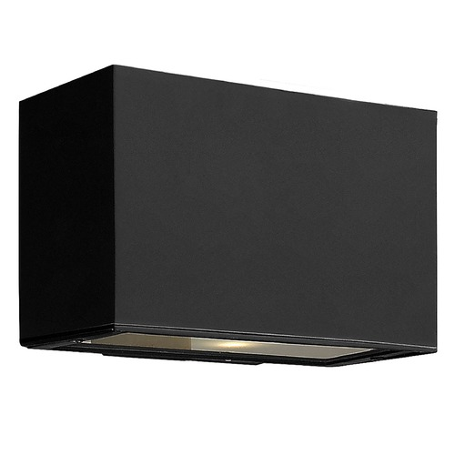 Hinkley Modern Outdoor Wall Light with Etched in Satin Black Finish 1645SK