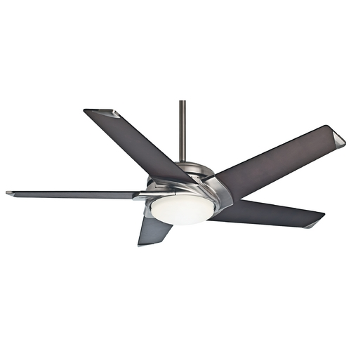 Casablanca Fan Co Casablanca Fan Stealth Dc Brushed Nickel Ceiling Fan with Light 59106