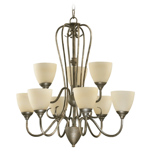 Quorum Lighting Quorum Lighting Powell Mystic Silver Chandelier 6008-9-58