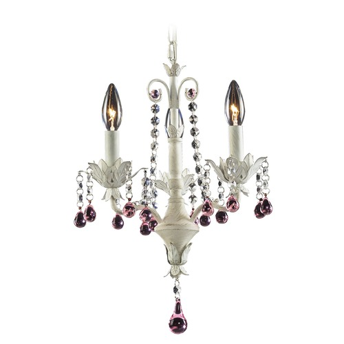 Elk Lighting Elk Lighting Elise Antique White Mini-Chandelier 4040/3
