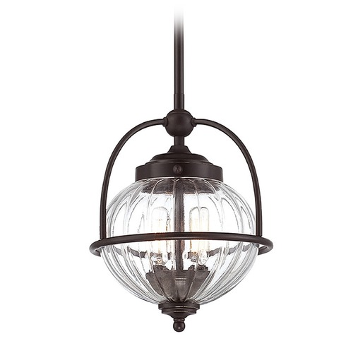 Savoy House Savoy House Lighting Banbury English Bronze W/ Gold Pendant Light with Globe Shade 7-460-2-213