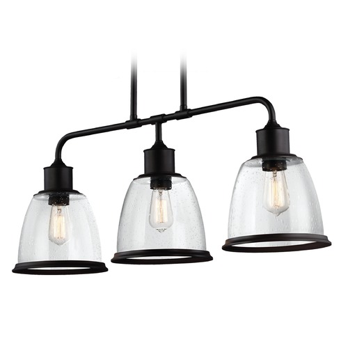 Feiss Lighting Feiss Lighting Hobson Oil Rubbed Bronze Island Light with Bowl / Dome Shade F3019/3ORB