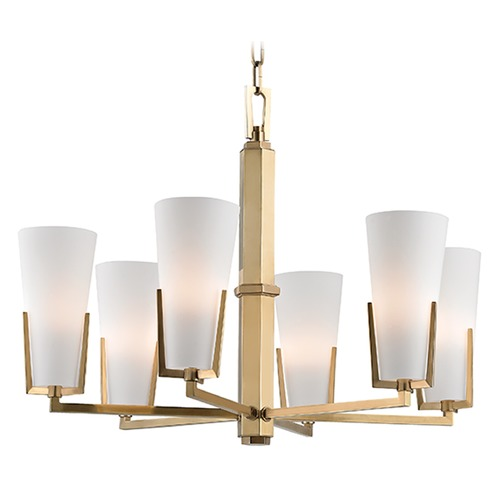 Hudson Valley Lighting Upton 6 Light Chandelier - Aged Brass 1806-AGB