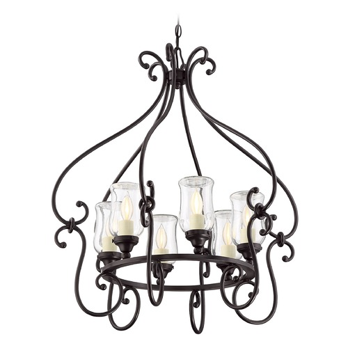 Savoy House Savoy House Lighting Weston English Bronze Outdoor Chandelier 1-1110-6-13
