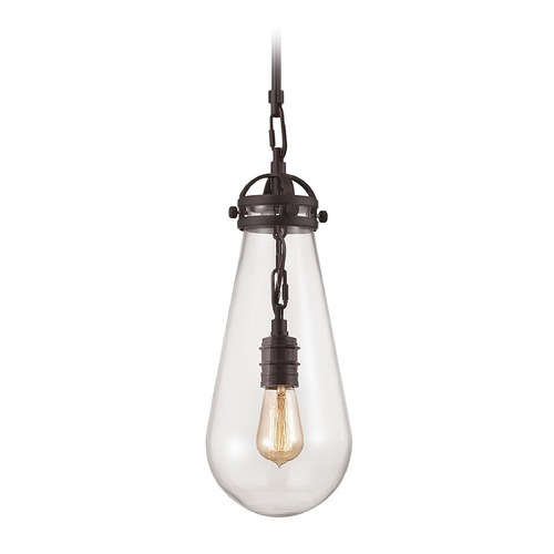 Elk Lighting Elk Lighting Gramercy Oil Rubbed Bronze Mini-Pendant Light with Bowl / Dome Shade 67120/1