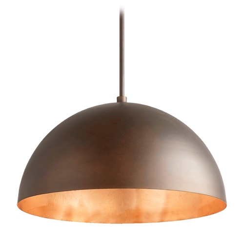 Quorum Lighting Quorum Lighting Oiled Bronze Pendant Light with Bowl / Dome Shade 8020-4986