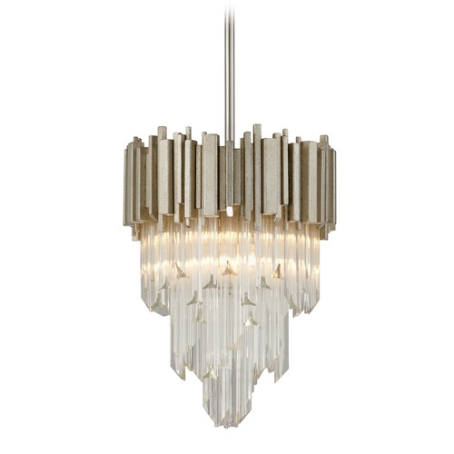 Corbett Lighting Corbett Lighting Mystique Modern Silver Leaf Pendant Light 226-44