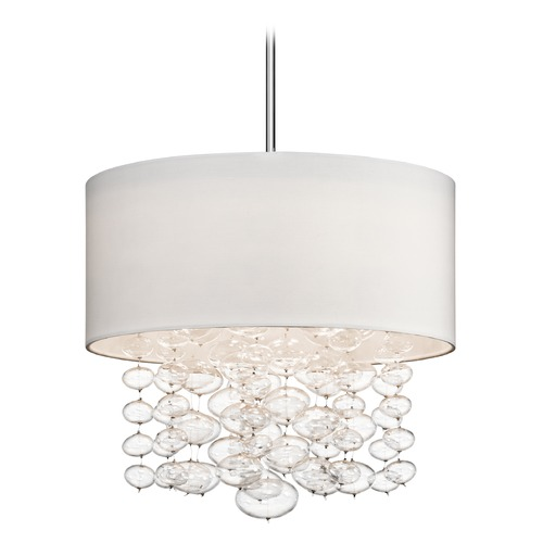 Elan Lighting Elan Lighting Piatt Chrome Pendant Light with Drum Shade 83242