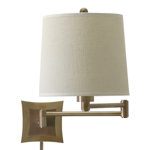 House of Troy Lighting Swing Arm Lamp in Antique Brass Finish WS752-AB
