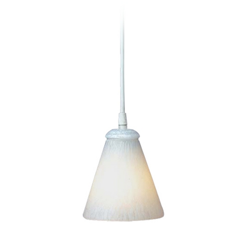 PLC Lighting Modern Mini-Pendant Light with White Glass 1700 WH/ WH