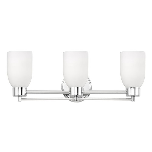 Design Classics Lighting Chrome Bathroom Light 703-26 GL1028D