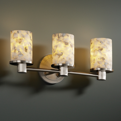 Justice Design Group Justice Design Group Alabaster Rocks! Collection Bathroom Light ALR-8513-10-NCKL