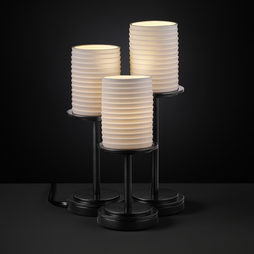 Justice Design Group Justice Design Group Limoges Collection Table Lamp POR-8797-10-SAWT-MBLK
