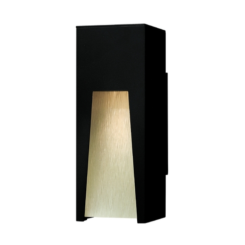 Hinkley Lighting Modern Outdoor Wall Light with Clear Glass in Satin Black Finish 1760SK