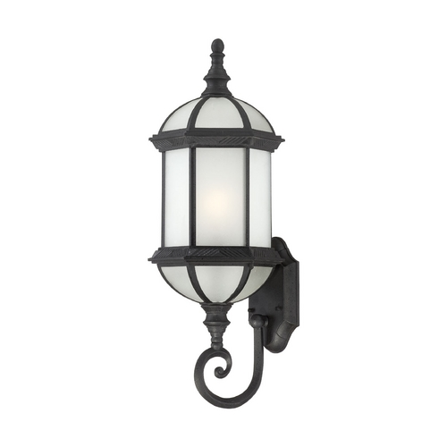 Nuvo Lighting Outdoor Wall Light with White Glass in Textured Black Finish 60/4993