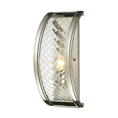 Elk Lighting Sconce Wall Light with Clear Glass in Polished Nickel Finish 31460/1