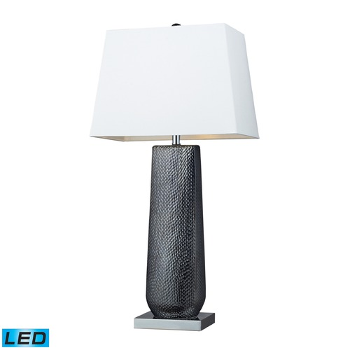 Dimond Lighting Dimond Lighting Black Pearl, Chrome LED Table Lamp with Rectangle Shade D2237-LED