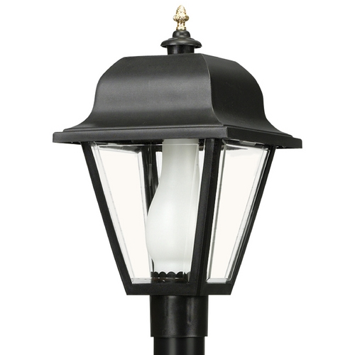 Wave Lighting Wave Lighting Marlex Saxony Black Post Light 412-G18