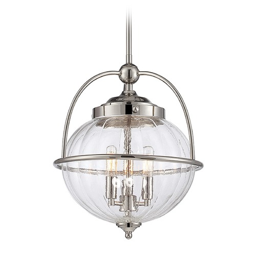 Savoy House Savoy House Lighting Banbury Polished Nickel Pendant Light with Globe Shade 7-461-3-109