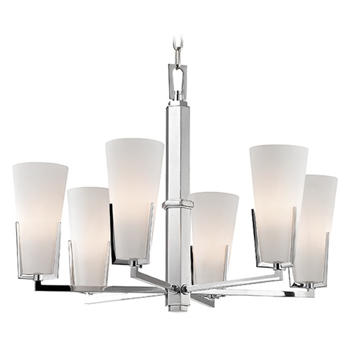 Hudson Valley Lighting Upton 6 Light Chandelier - Polished Chrome 1806-PC