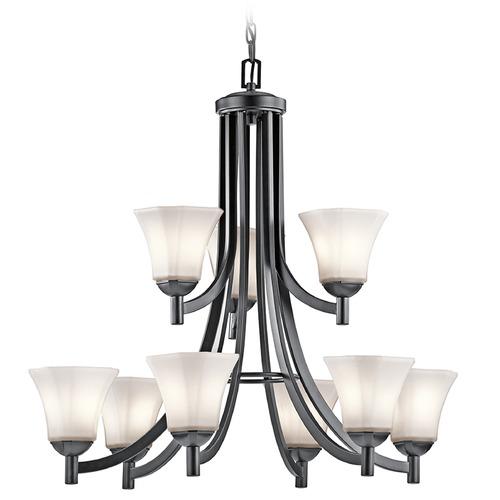 Kichler Lighting Kichler Serena 2-Tier 9-Light Chandelier in Black 43632BK