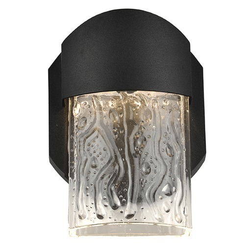 Access Lighting Access Lighting Mist Black LED Outdoor Wall Light 20043LEDDMG-BL/CLR