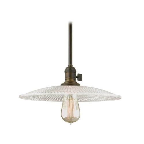 Hudson Valley Lighting Pendant Light with Clear Glass in Old Bronze Finish 9001-OB-GM4